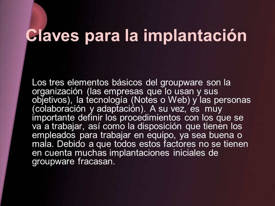 Claves para la implantación
