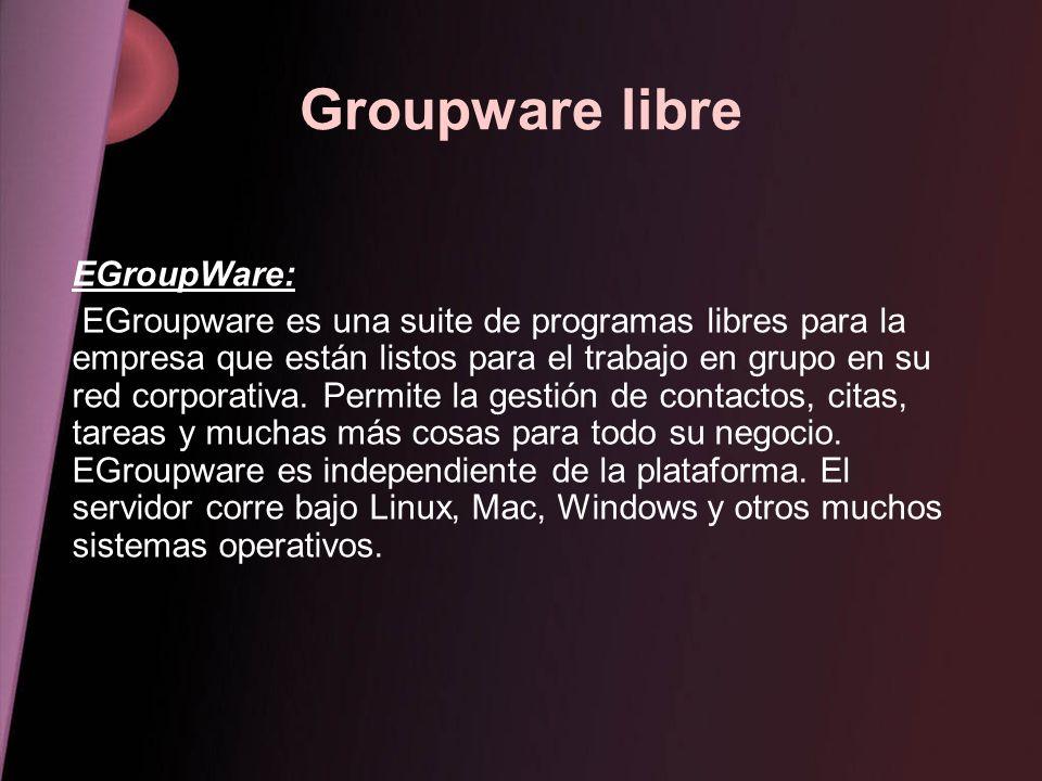 Groupware libre EGroupWare: