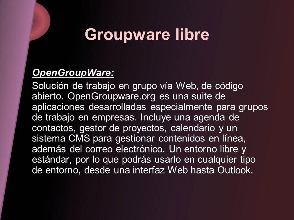 Groupware libre OpenGroupWare: