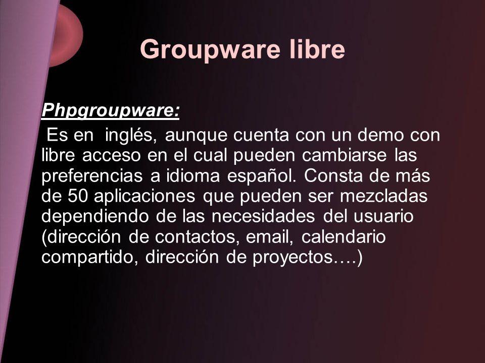 Groupware libre Phpgroupware: