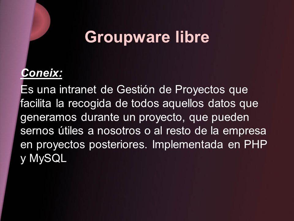 Groupware libre Coneix: