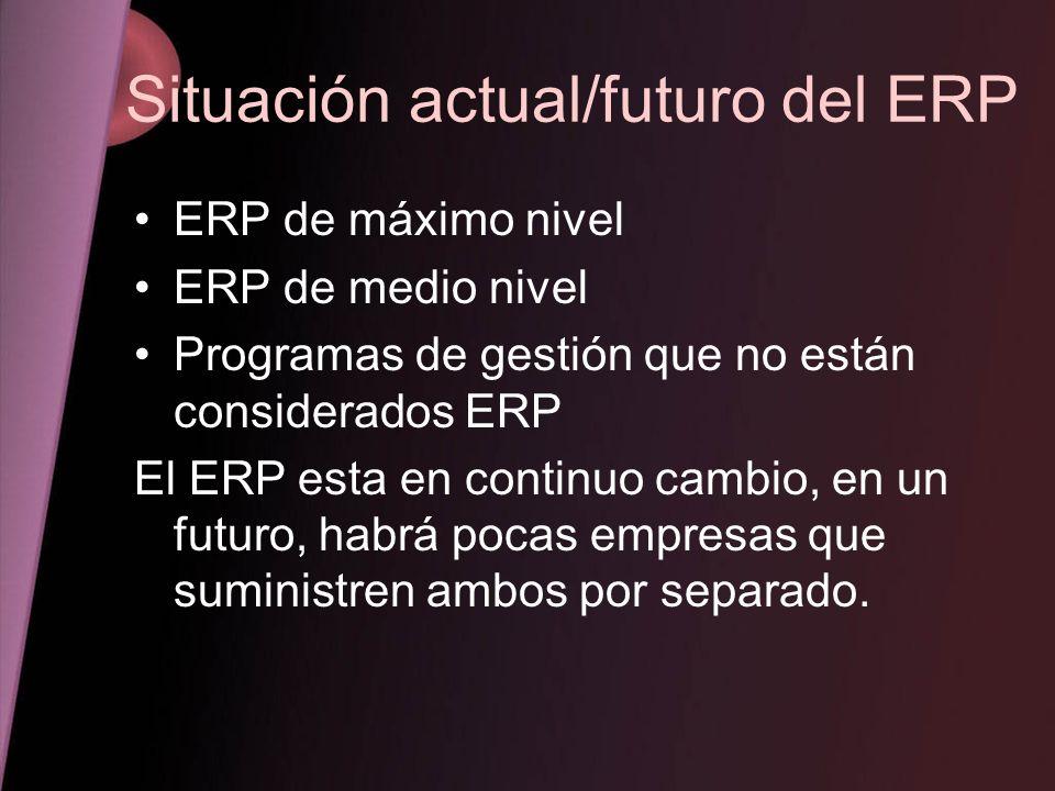 Situación actual/futuro del ERP