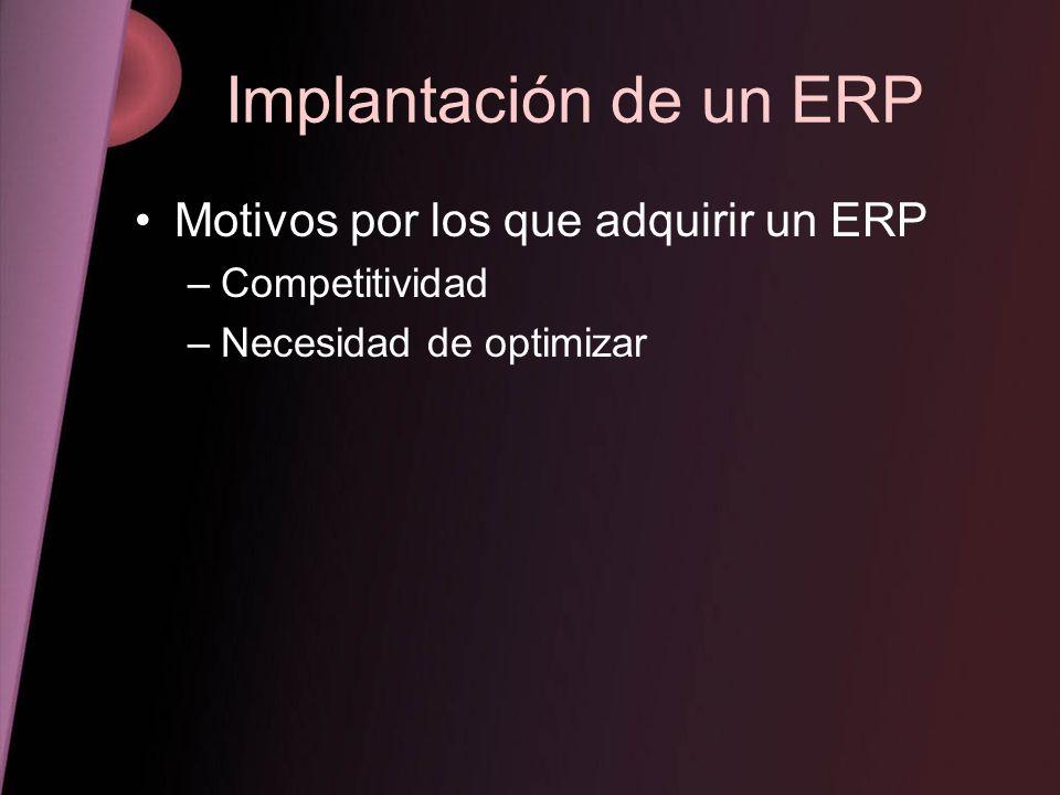 Implantación de un ERP Motivos por los que adquirir un ERP