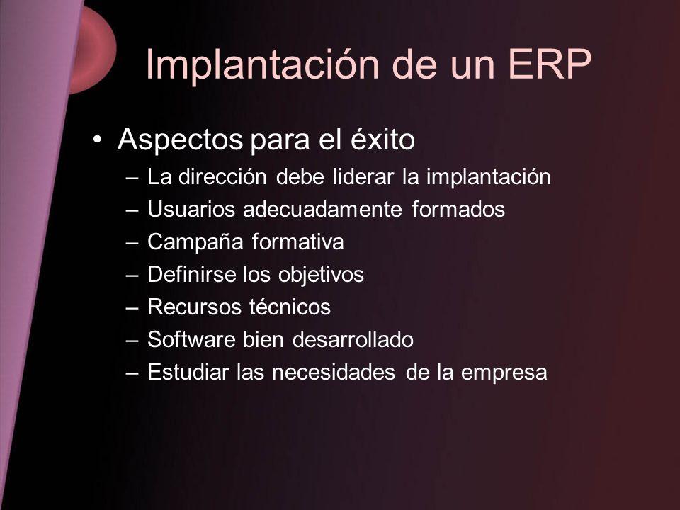 Implantación de un ERP Aspectos para el éxito