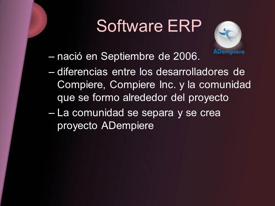 Software ERP nació en Septiembre de 2006.