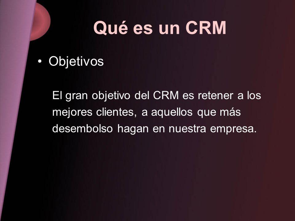 Qué es un CRM Objetivos El gran objetivo del CRM es retener a los
