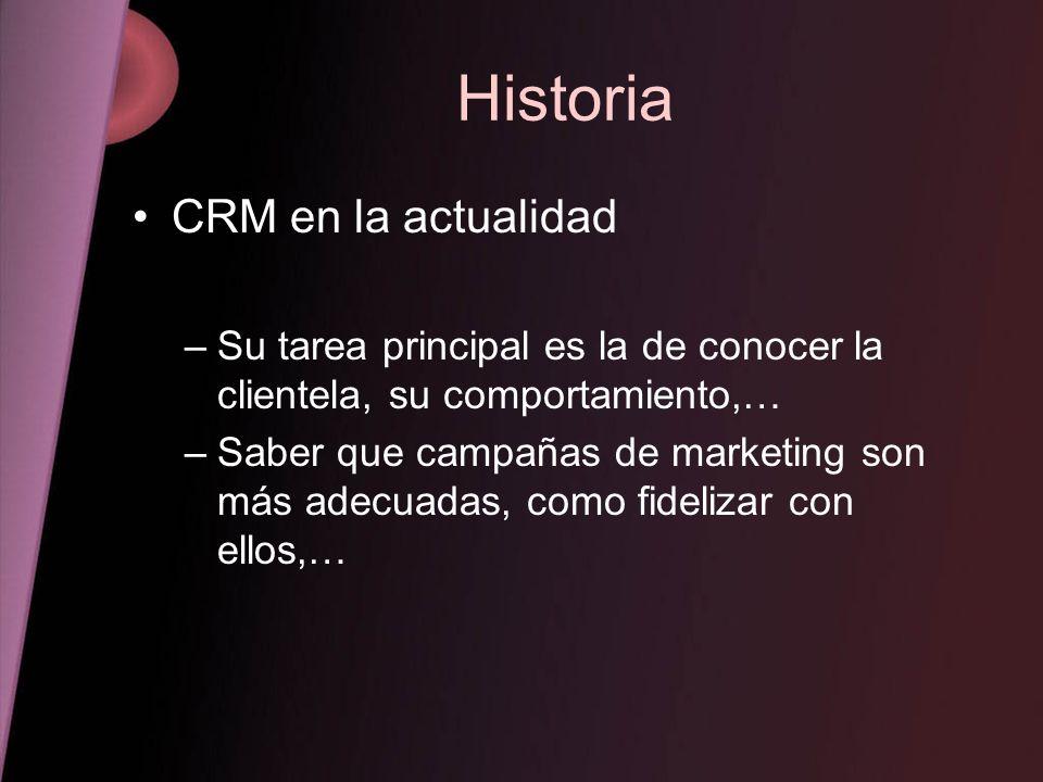 Historia CRM en la actualidad