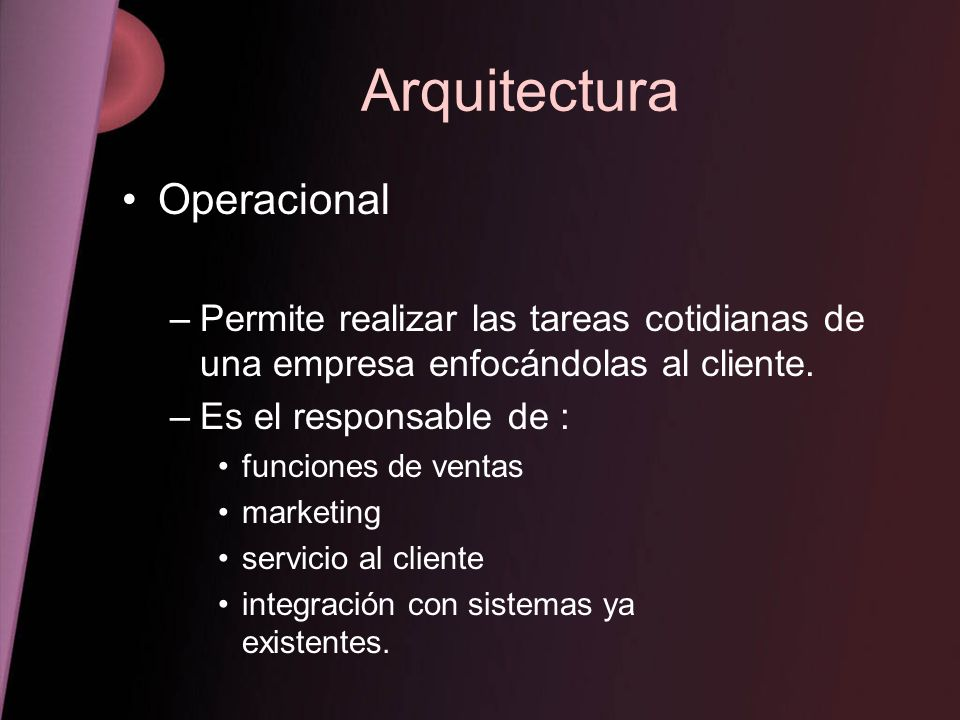 Arquitectura Operacional