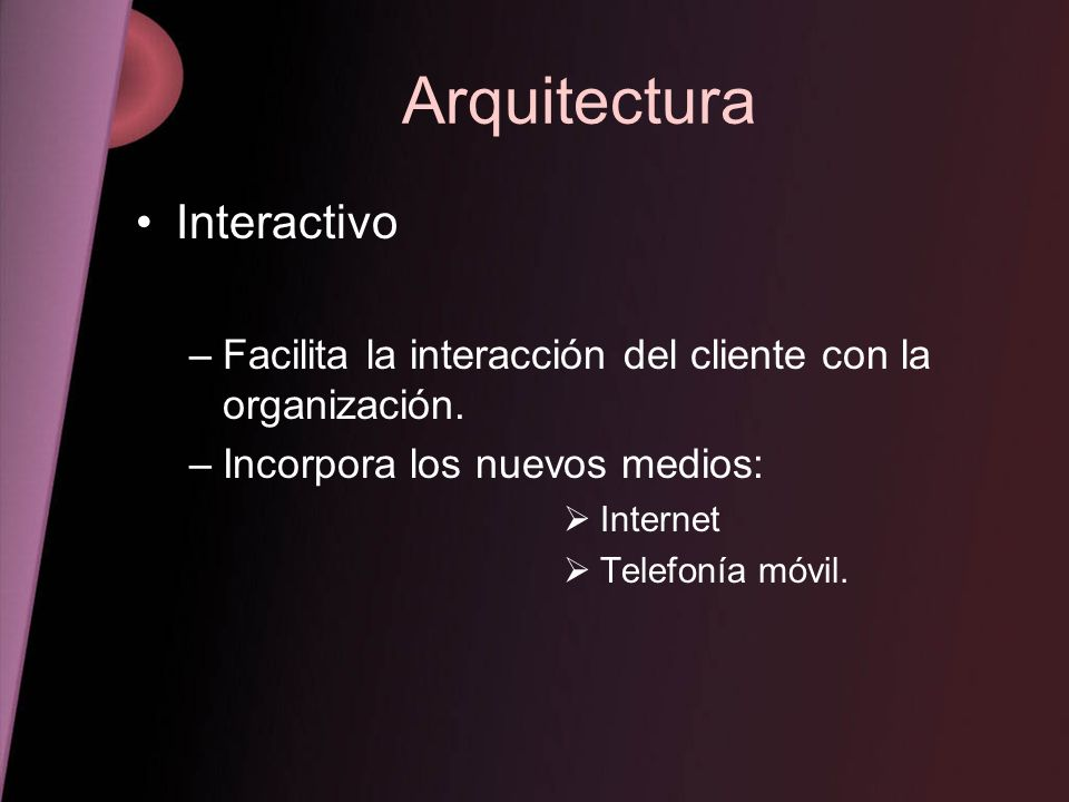 Arquitectura Interactivo