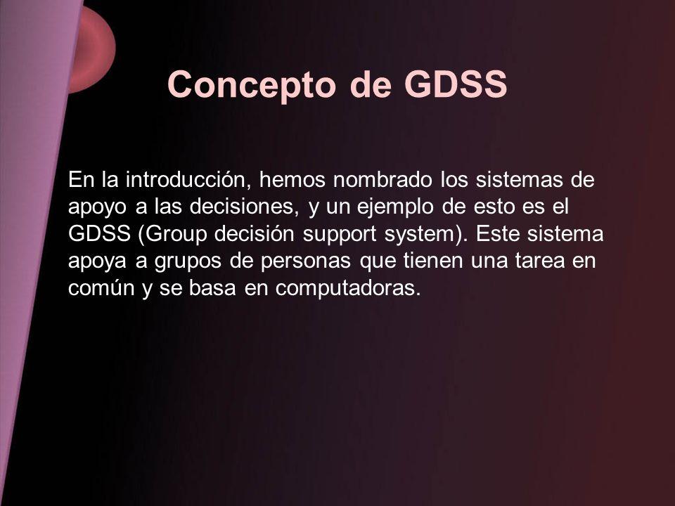 Concepto de GDSS