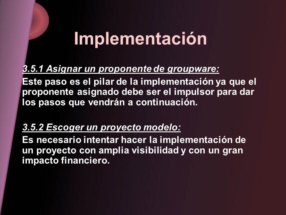 Implementación 3.5.1 Asignar un proponente de groupware: