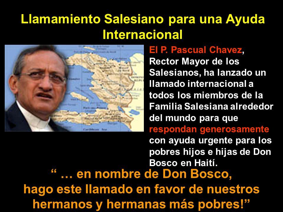 Llamamiento Salesiano para una Ayuda Internacional