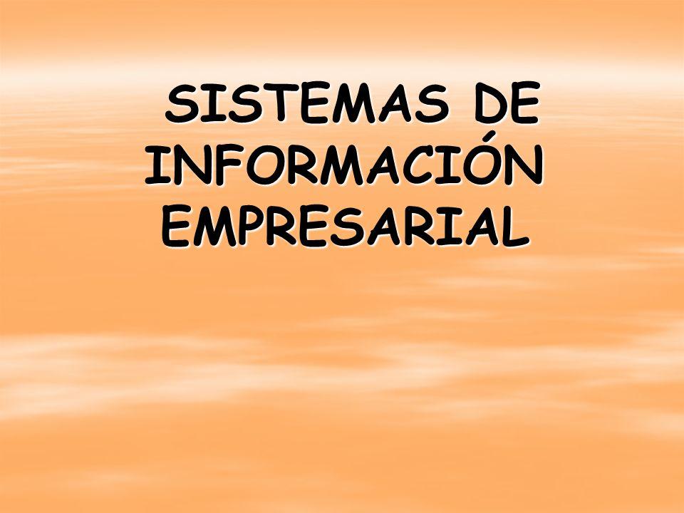 SISTEMAS DE INFORMACIÓN EMPRESARIAL