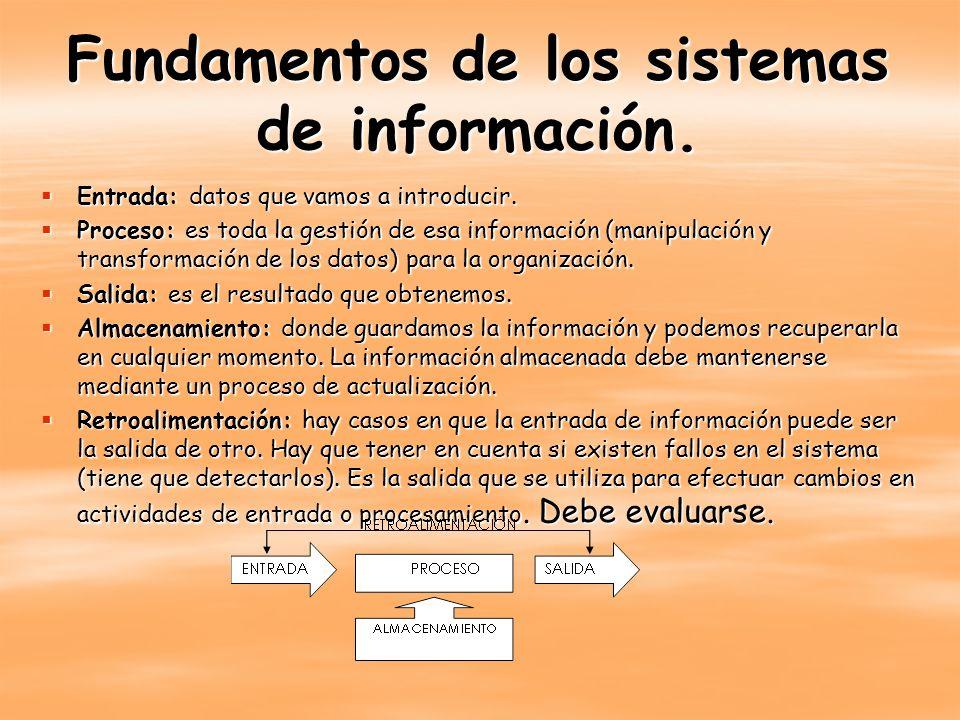 Fundamentos de los sistemas de información.