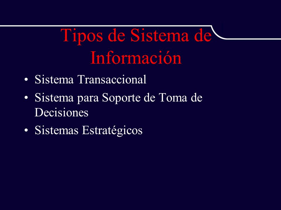 Tipos de Sistema de Información