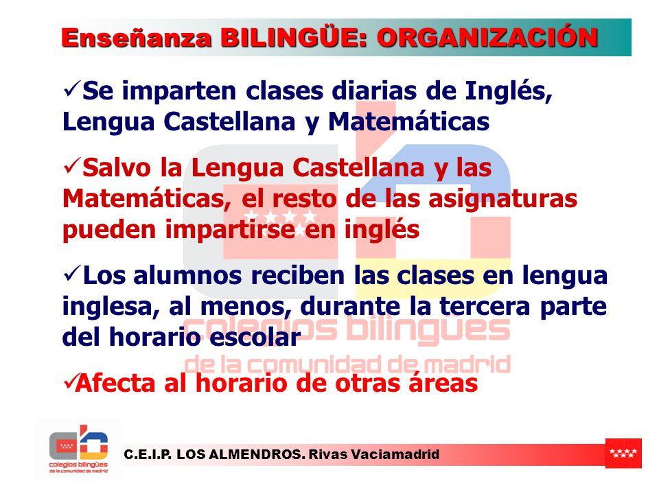 Enseñanza BILINGÜE: ORGANIZACIÓN