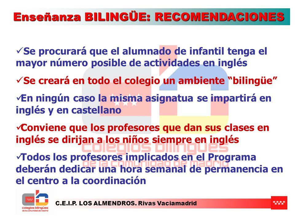 Enseñanza BILINGÜE: RECOMENDACIONES
