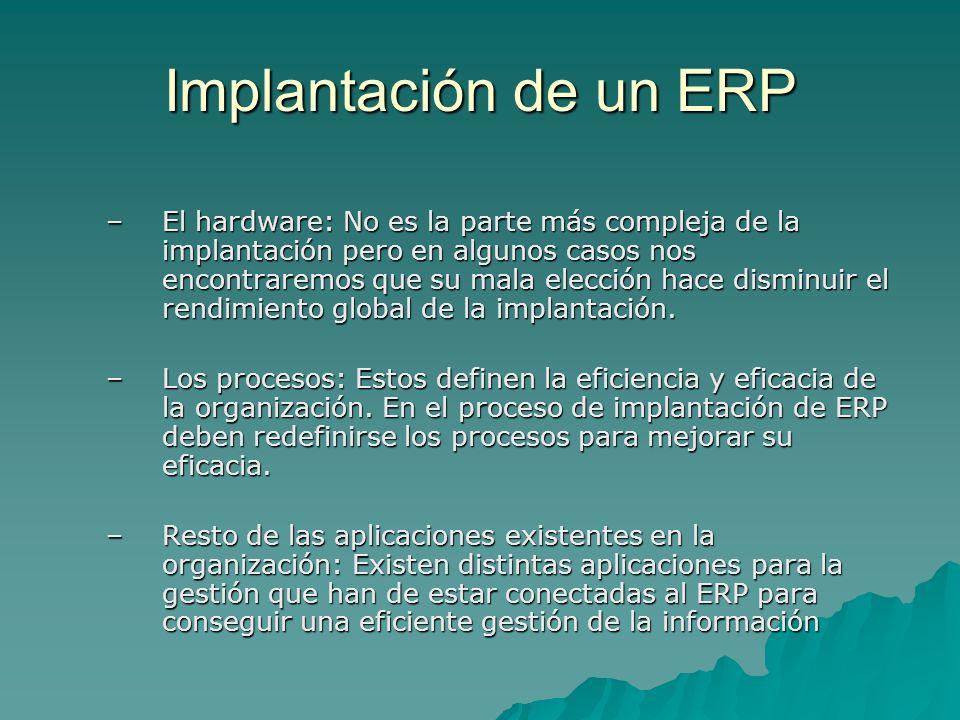 Implantación de un ERP