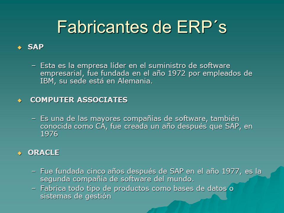 Fabricantes de ERP´s SAP