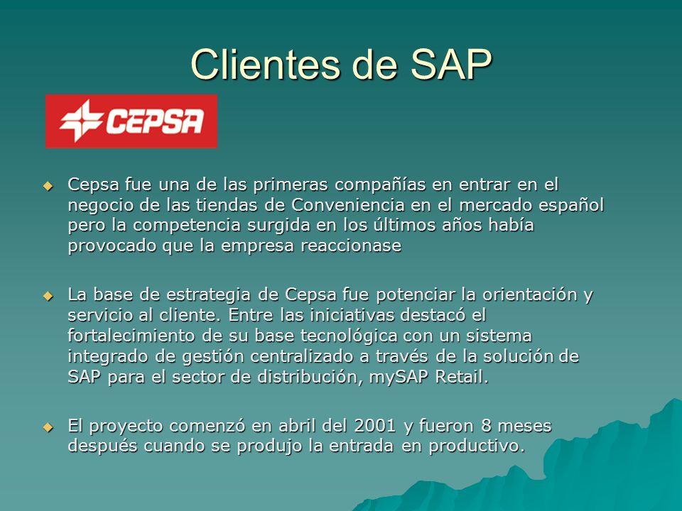 Clientes de SAP