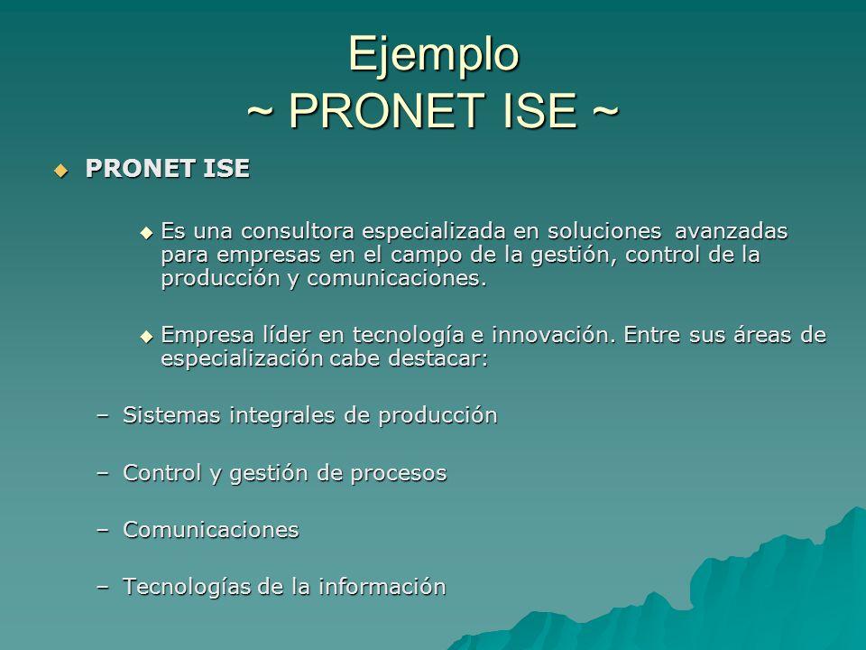 Ejemplo ~ PRONET ISE ~ PRONET ISE