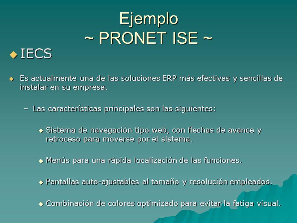 Ejemplo ~ PRONET ISE ~ IECS