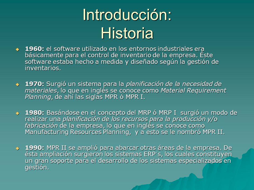 Introducción: Historia