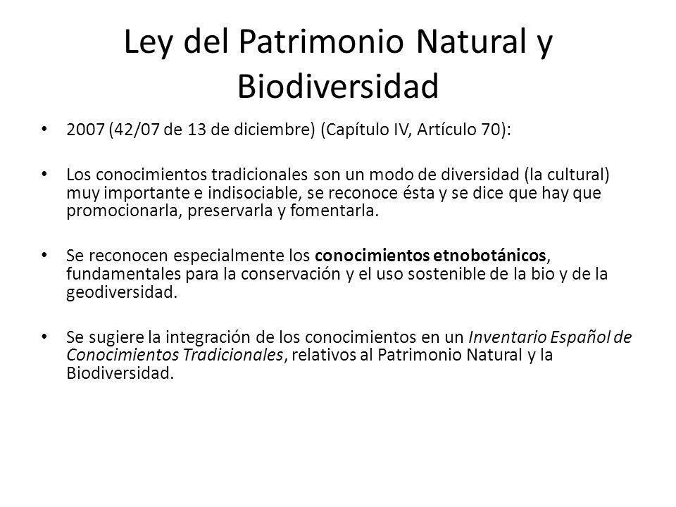 Ley del Patrimonio Natural y Biodiversidad