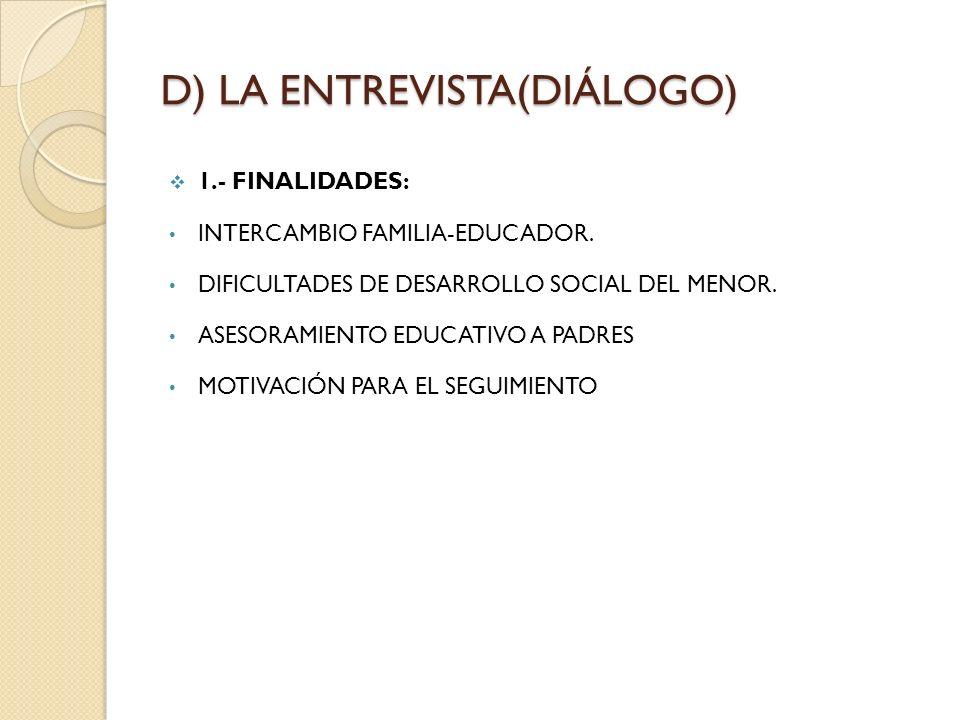 D) LA ENTREVISTA(DIÁLOGO)