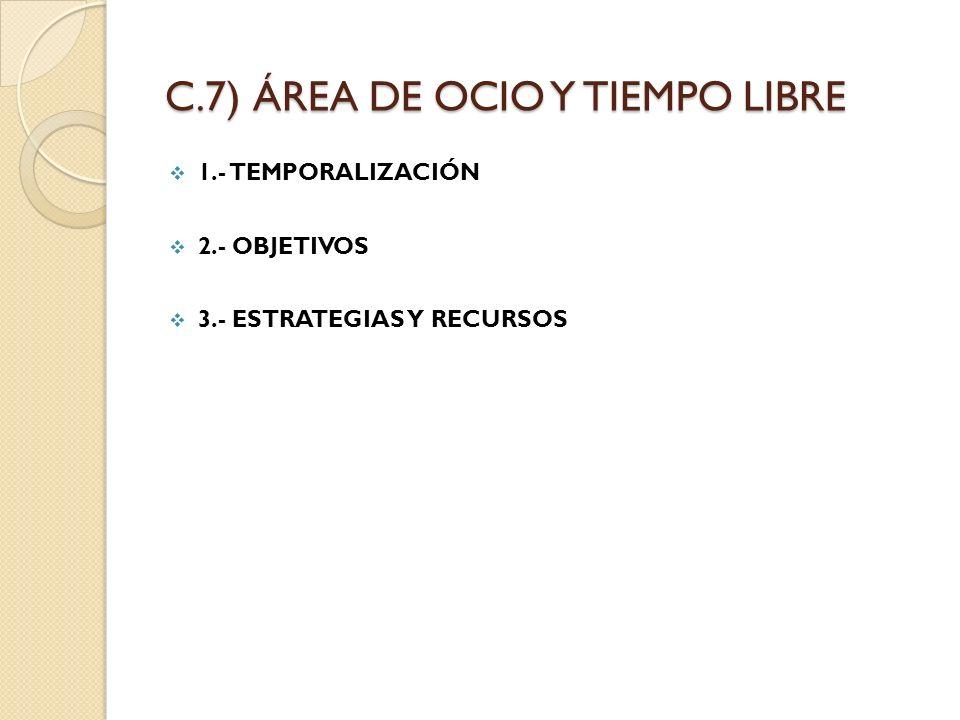 C.7) ÁREA DE OCIO Y TIEMPO LIBRE