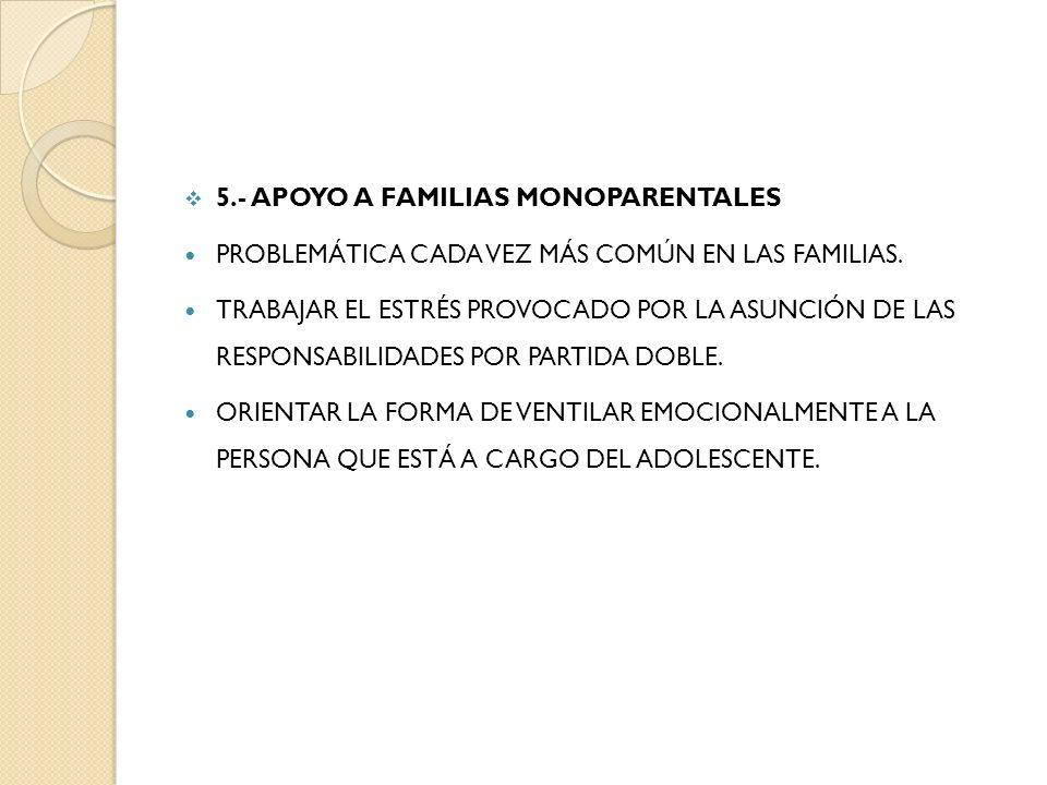5.- APOYO A FAMILIAS MONOPARENTALES