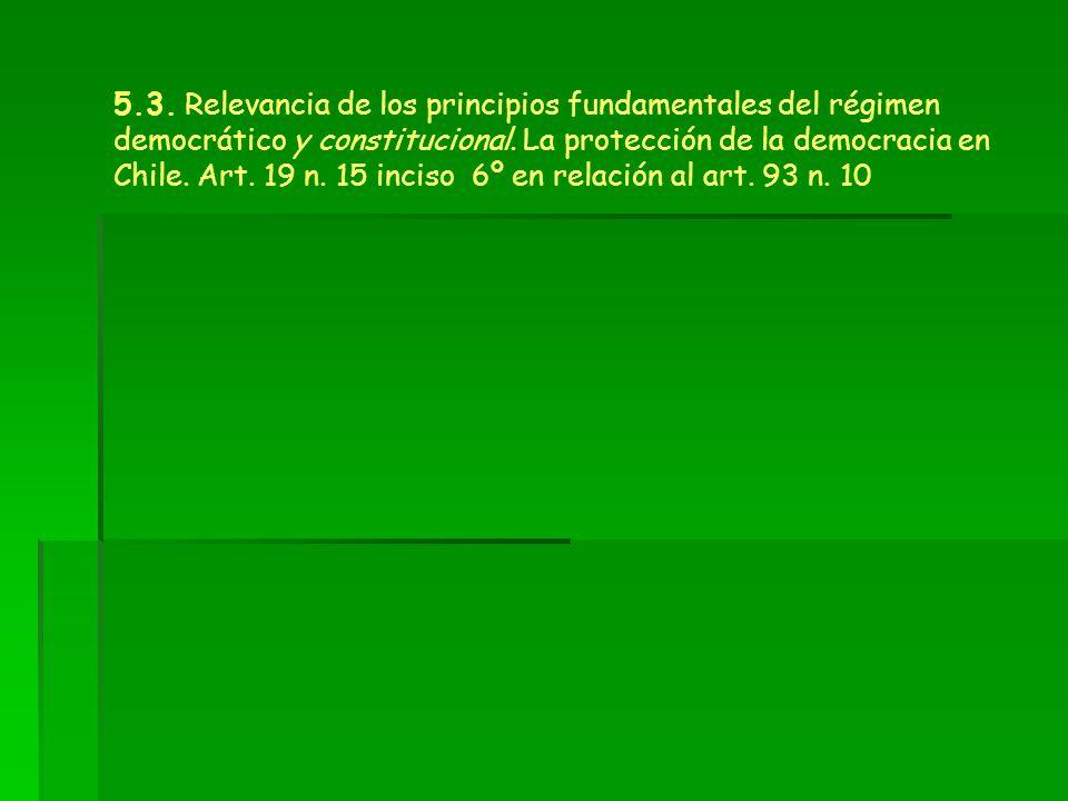 5.3. Relevancia de los principios fundamentales del régimen democrático y constitucional.