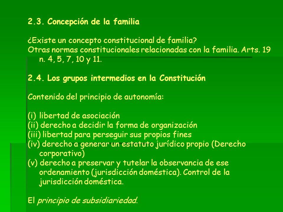 2.3. Concepción de la familia