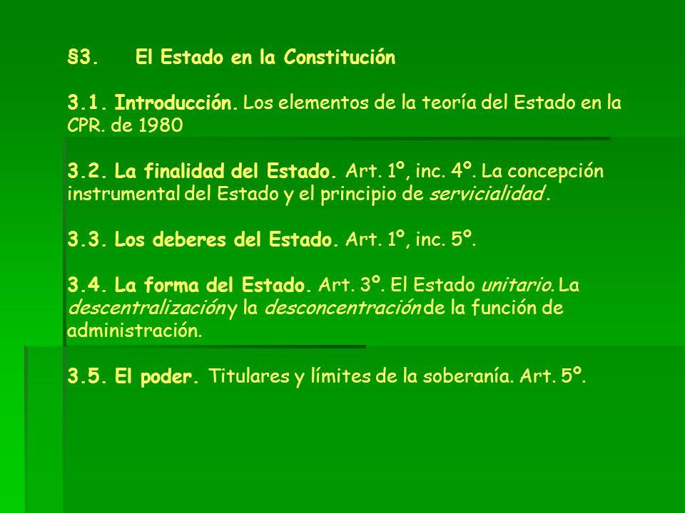 §3. El Estado en la Constitución