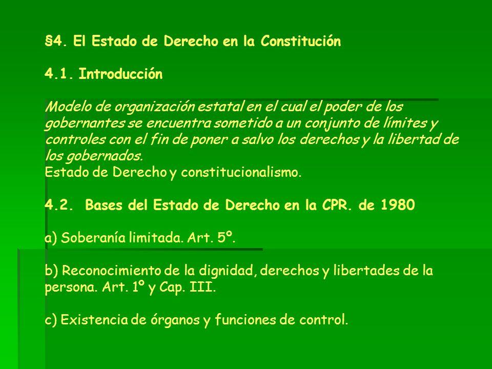 §4. El Estado de Derecho en la Constitución