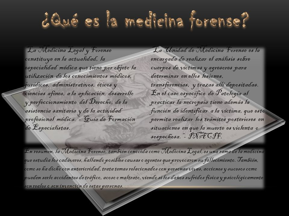 ¿Qué es la medicina forense