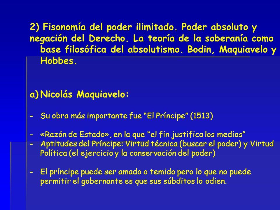 2) Fisonomía del poder ilimitado. Poder absoluto y