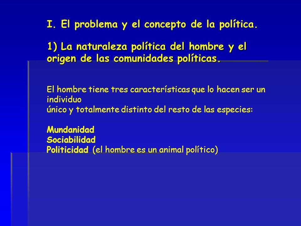 I. El problema y el concepto de la política