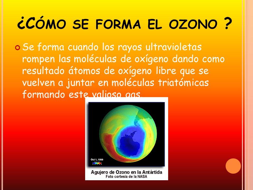 ¿Cómo se forma el ozono