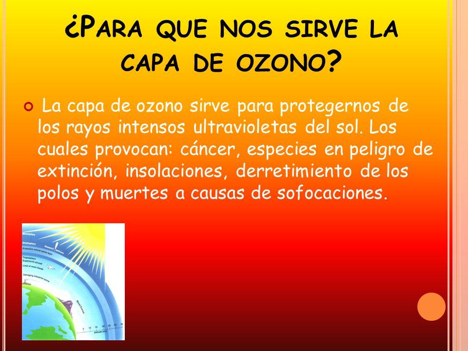 ¿Para que nos sirve la capa de ozono