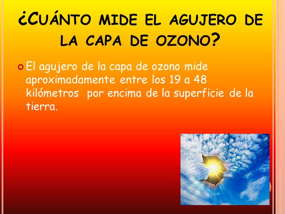¿Cuánto mide el agujero de la capa de ozono