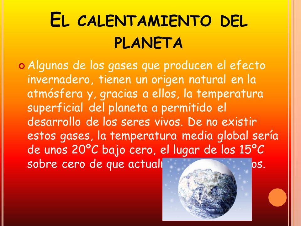 El calentamiento del planeta