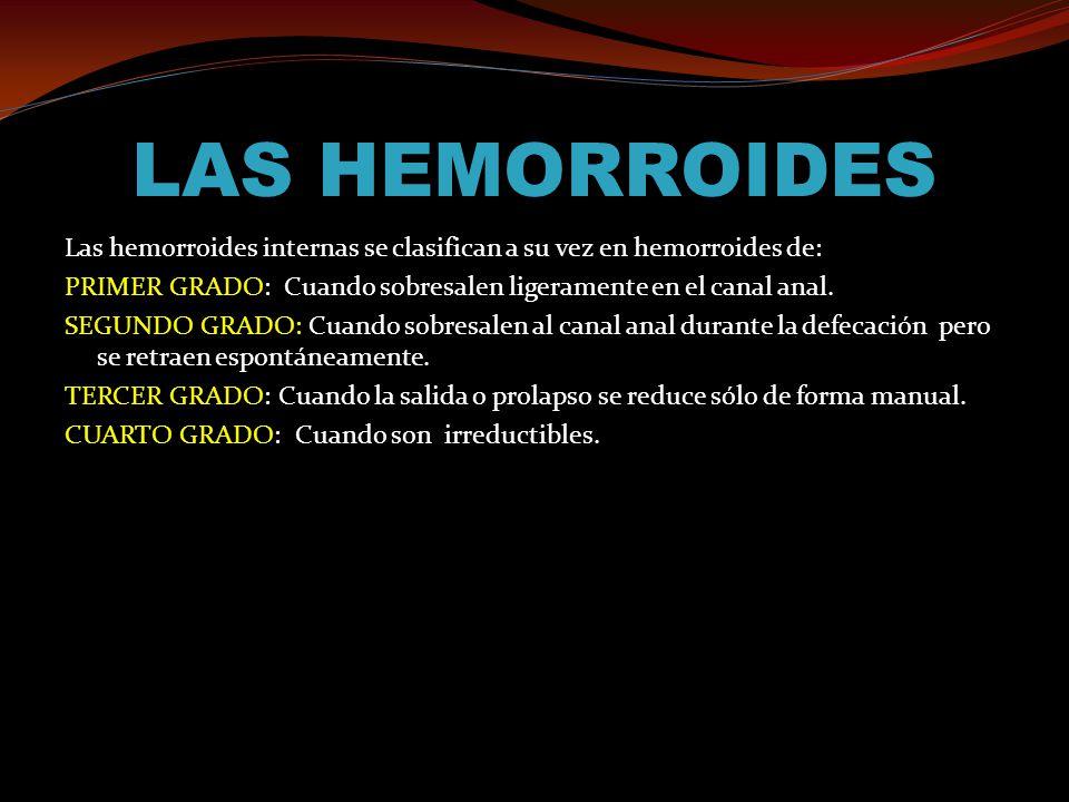 LAS HEMORROIDES