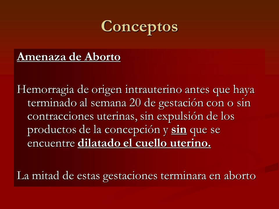 Conceptos Amenaza de Aborto