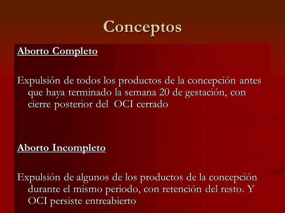 Conceptos Aborto Completo