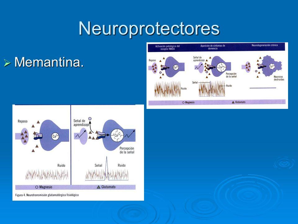 Neuroprotectores Memantina.