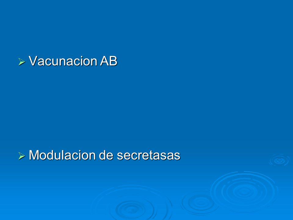 Vacunacion AB Modulacion de secretasas