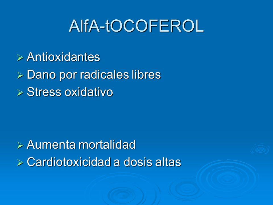 AlfA-tOCOFEROL Antioxidantes Dano por radicales libres