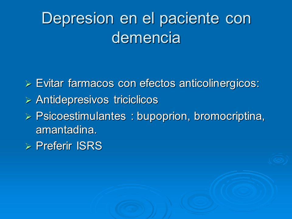 Depresion en el paciente con demencia