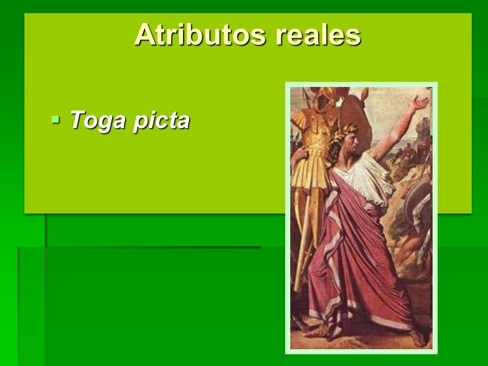 Atributos reales Toga picta